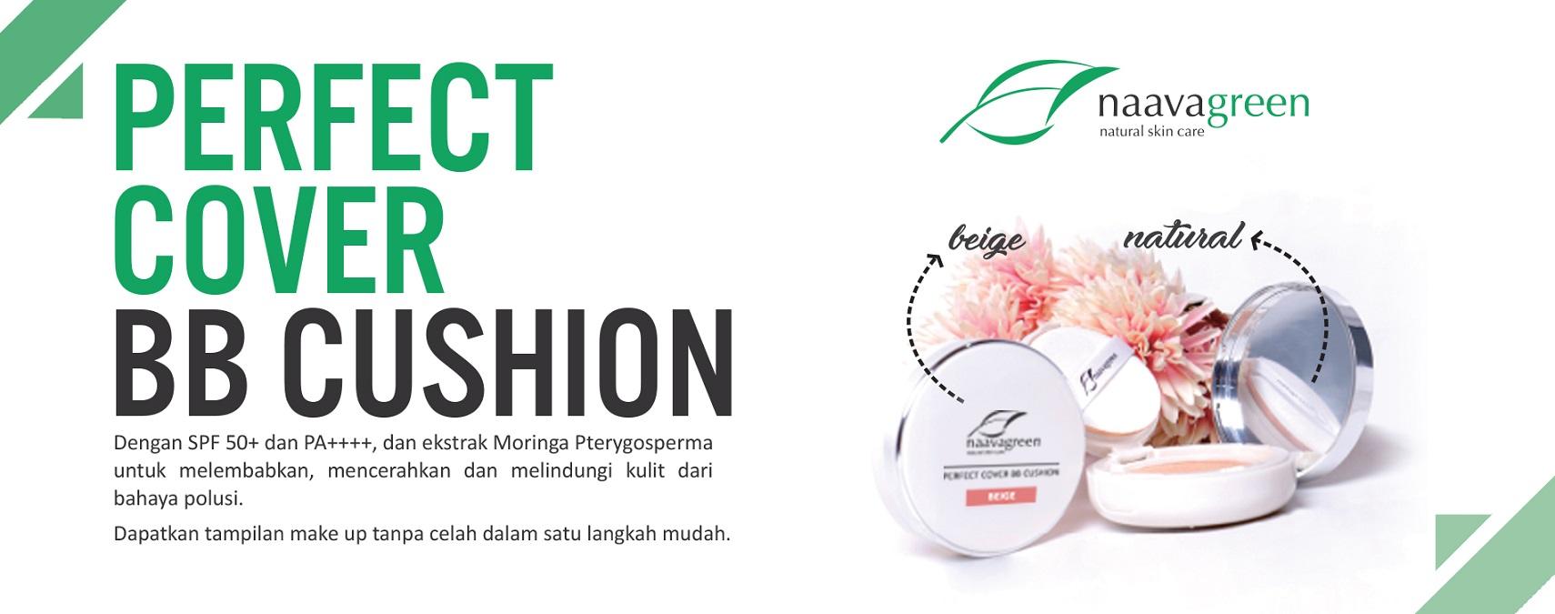 Naavagreen perfect cover BB Cushion, terbaik dan aman untuk kulit kamu akhirnya resmi di launching!