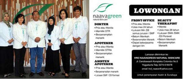 Lowongan Kerja Naavagreen Penempatan Kediri dan Surabaya
